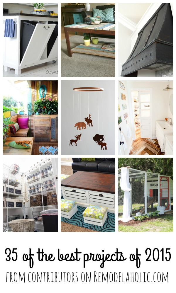 35 of the BEST DIY Projects from the contributors on Remodelaholic.com. So many great tutorials to remodel and update your home on a budget. #iamaremodelaholic #diy #projects #remodel #update