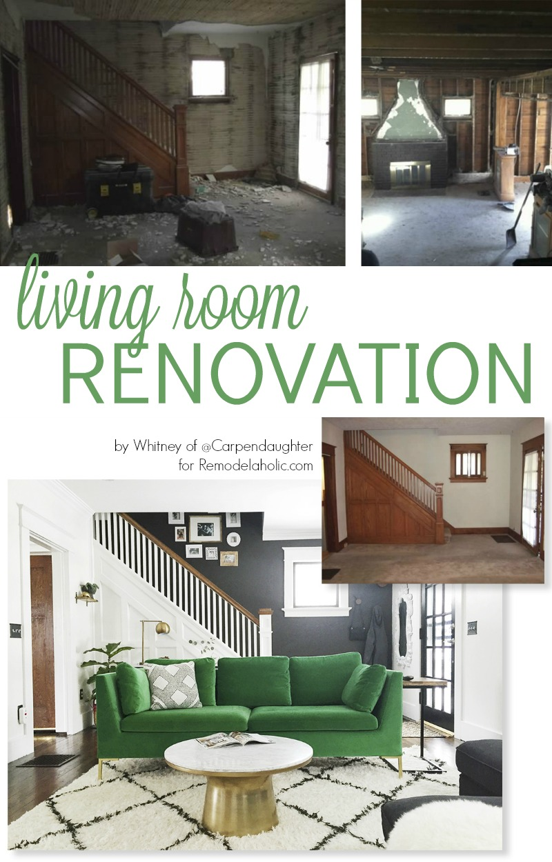 Remodelaholic before after living room renovation for Living room renovation ideas