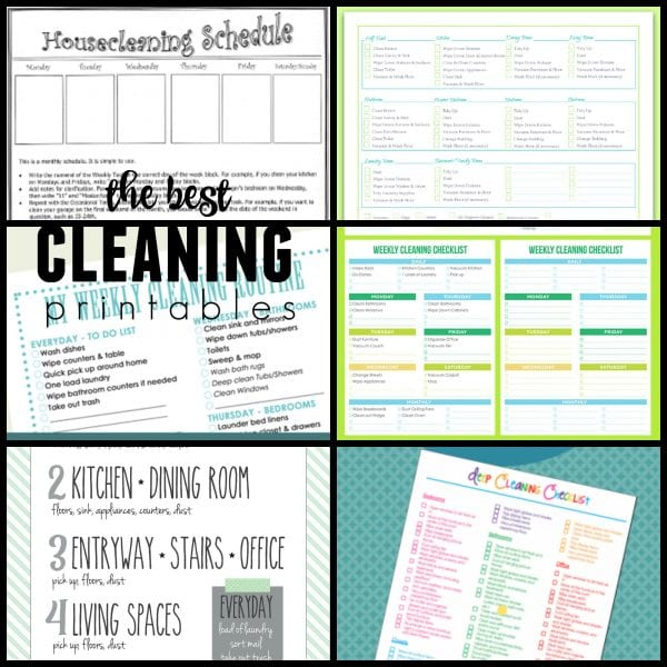 Best cleaning routine and checklist printables @Remodelaholic