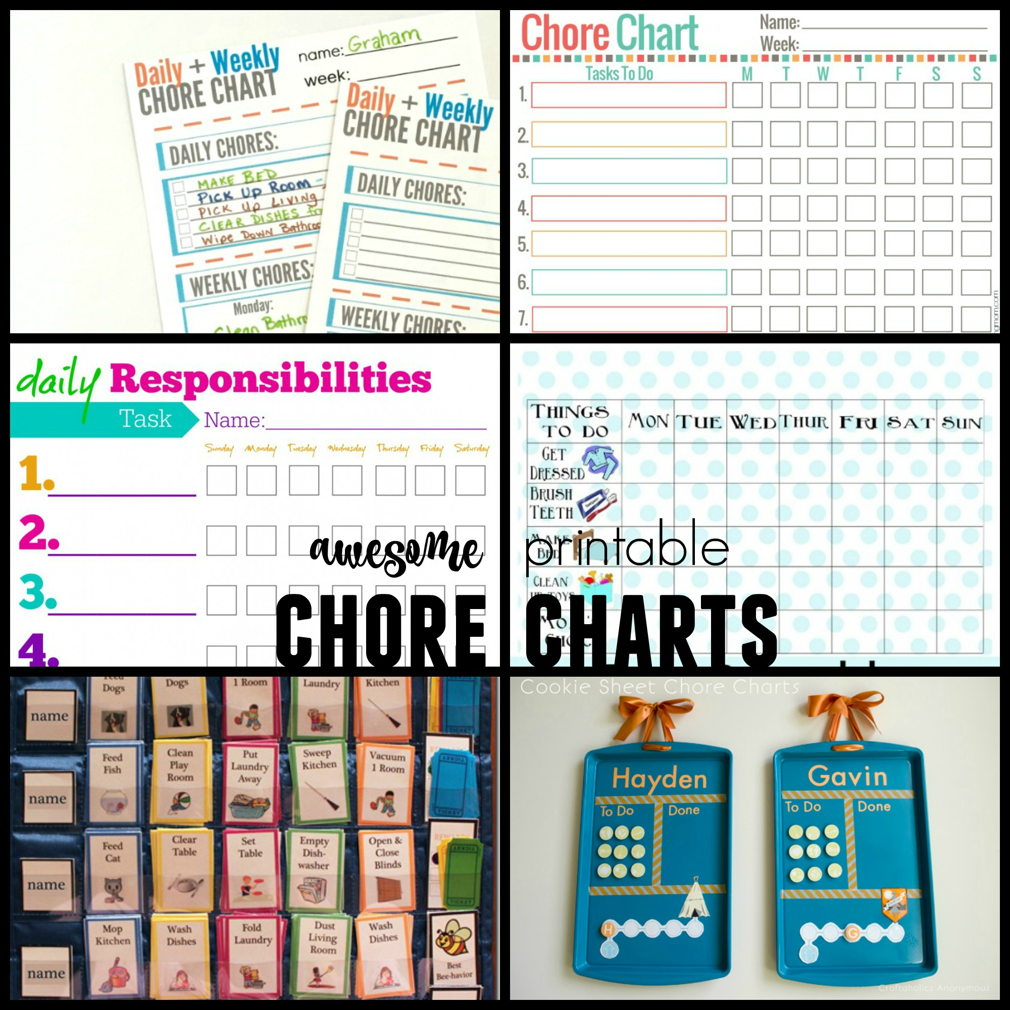 Chore Charts For Kids And Families  Progress Chart For Kids