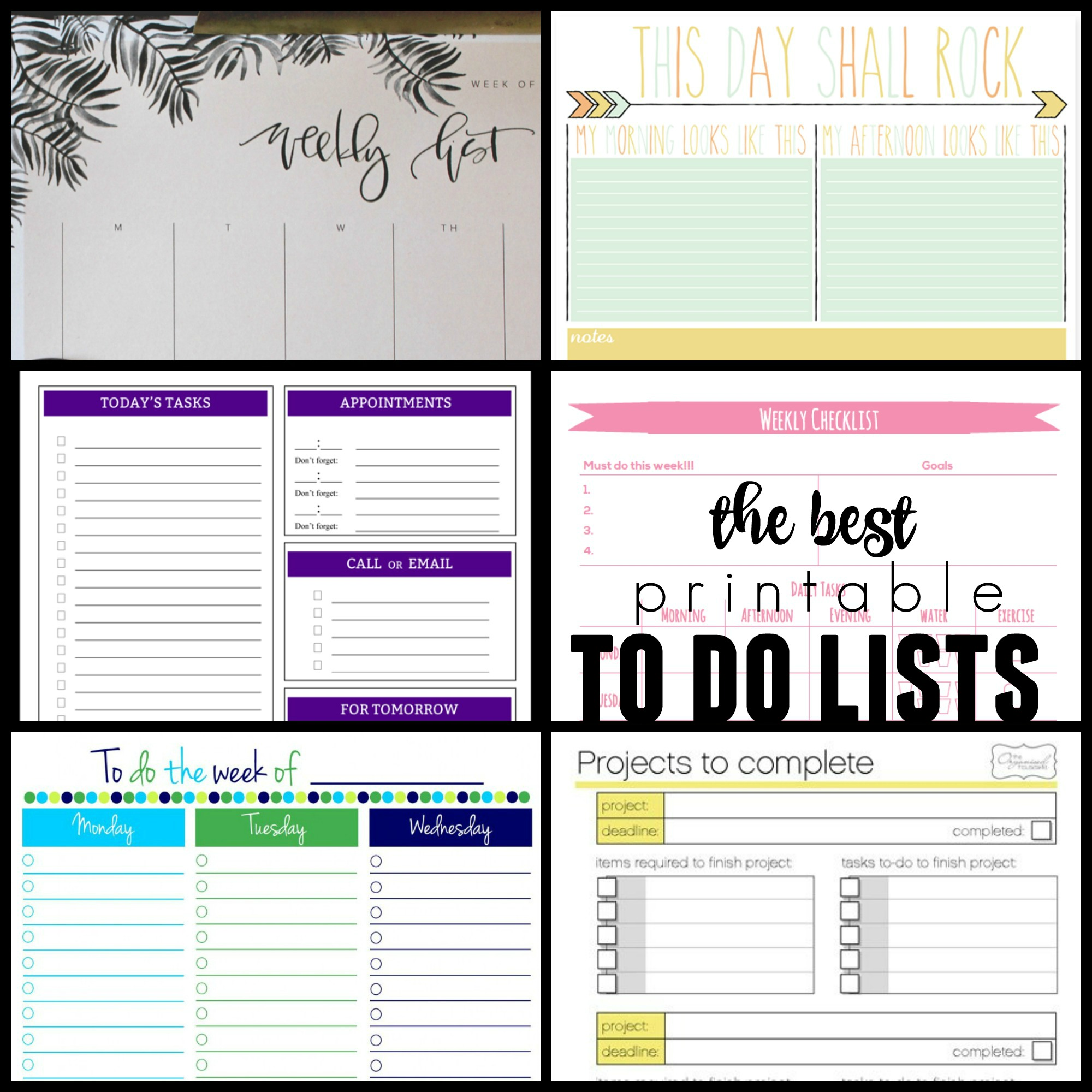 36 Free Printable Organizers For A