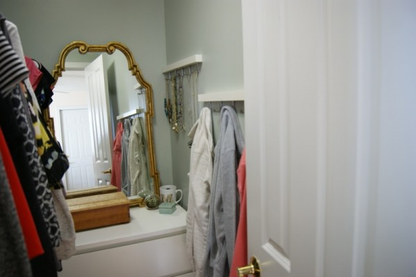 I Added A Mirror Over The Dresser To Look Cute, Make The Space Look Bigger  U0026 To Function As A Vanity! When People Visit, They Share My Very Small  Bathroom.