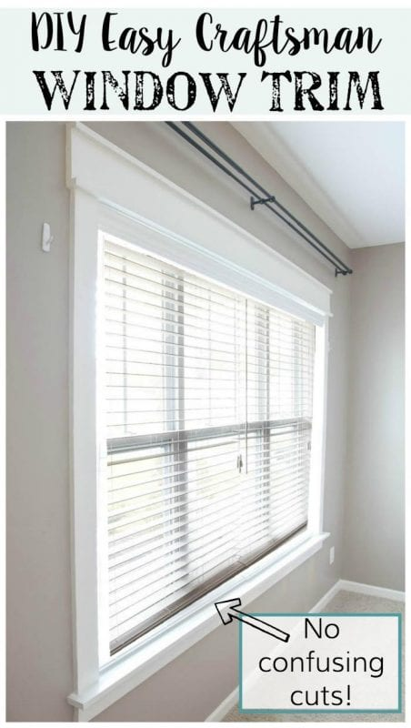 No confusing cuts, just a beautiful tutorial. DIY Easy Craftsman Window Trim Tutorial by Blesser House featured on Remodelaholic.com