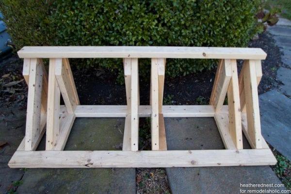 Remodelaholic build a diy bike rack tutorial for Diy outdoor bike storage