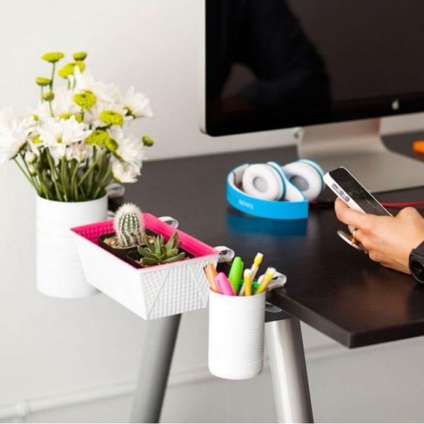 DIY clip-on desk organizers via Brit + Co