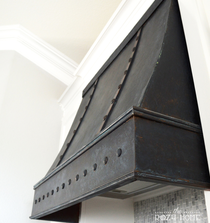 Black French Kitchen Vent Hood