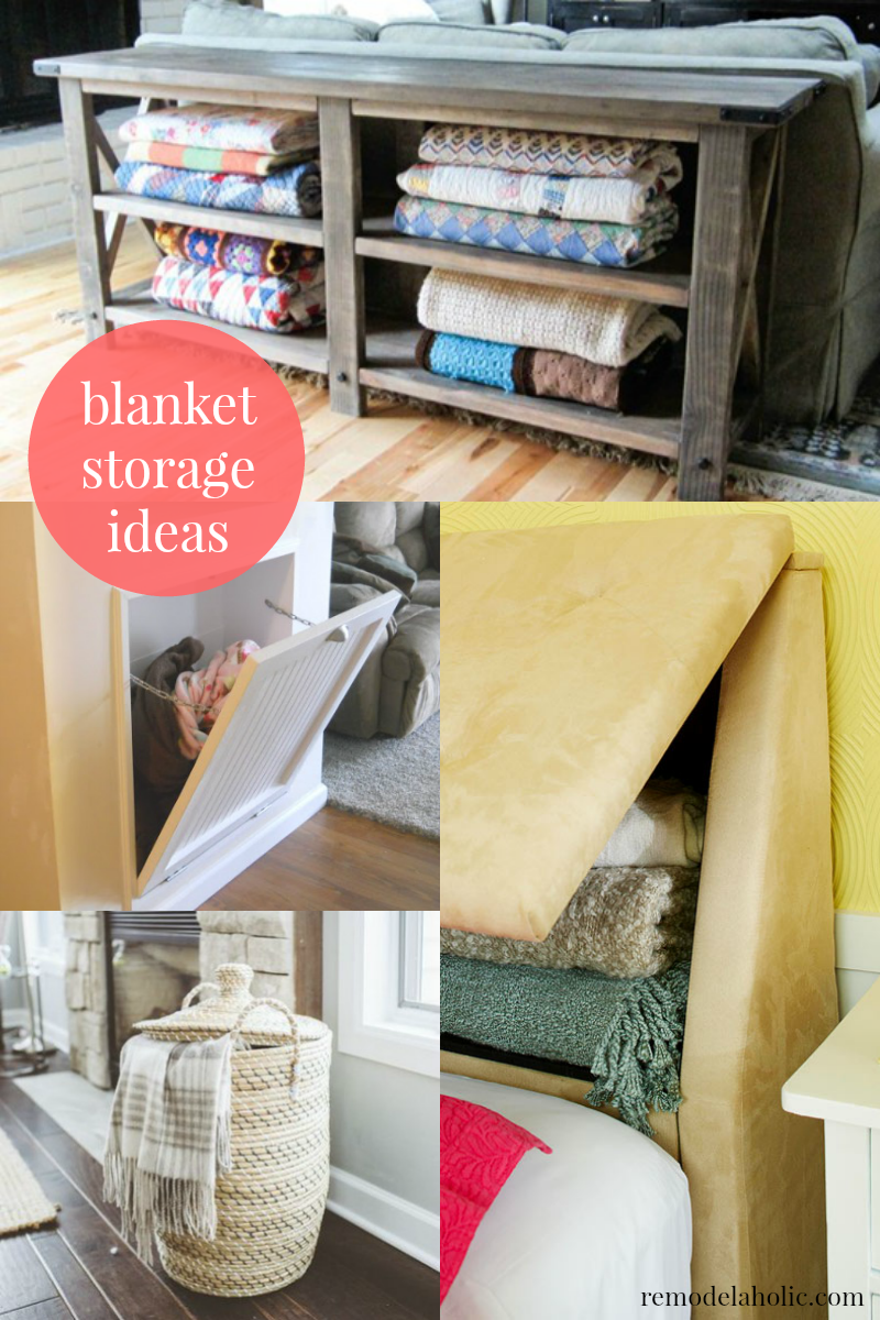 Easy Ways to Store Blankets @Remodelaholic