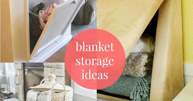 Remodelaholic 5 easy ways to store blankets for Living room blanket storage