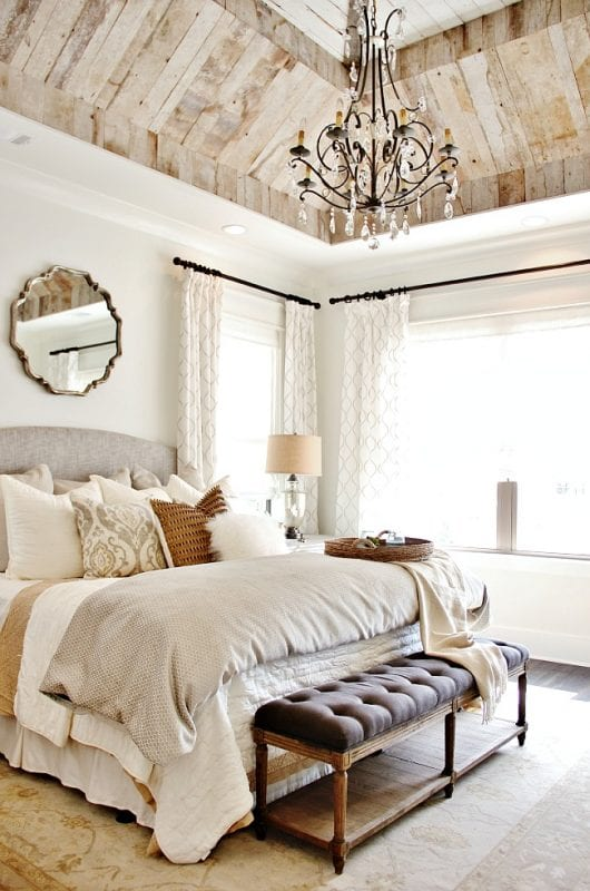 Gorgeous rustic neutral home and bedroom Thistlewood Farm