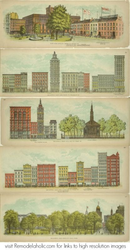 Historic Pictorial Broadway Vintage Images to Print via NYPL @Remodelaholic