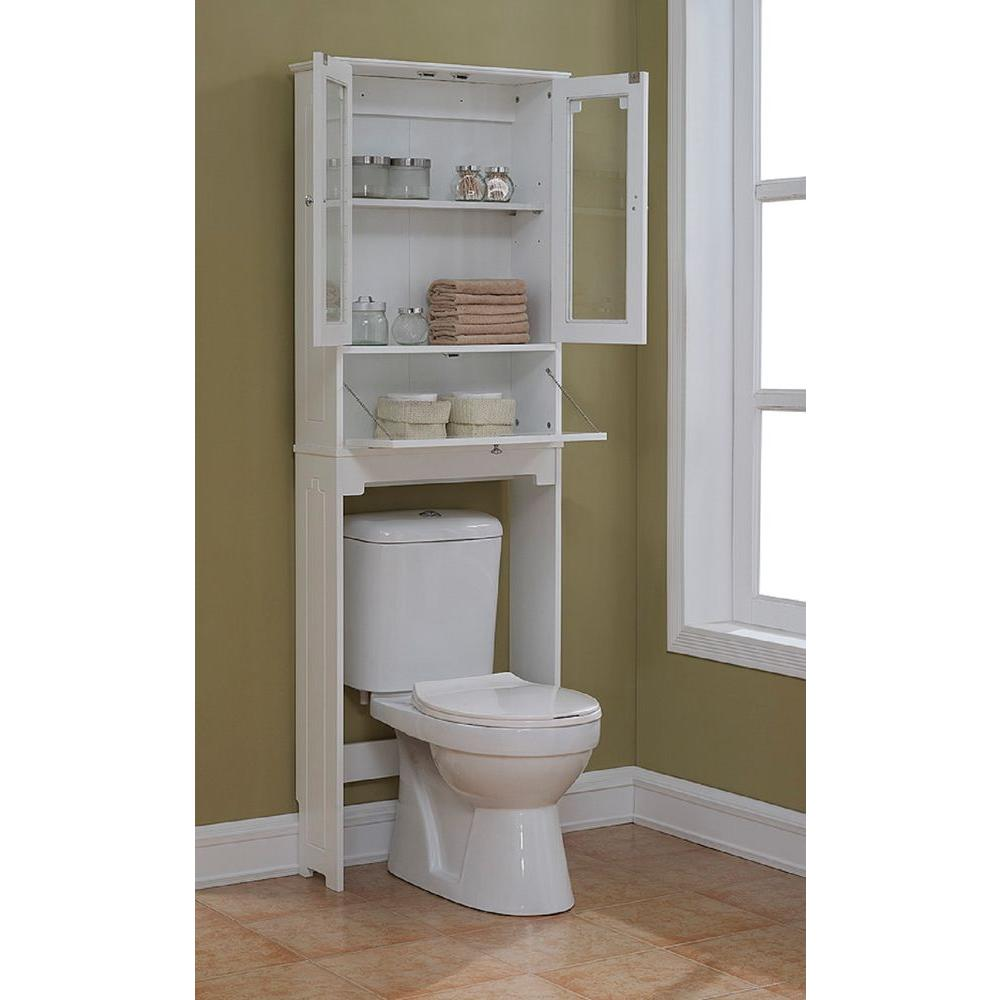 Remodelaholic 30 bathroom storage ideas for Bathroom over the toilet shelf