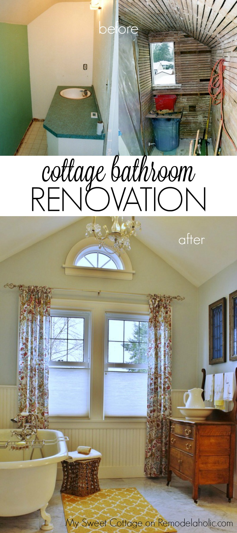 Remodelaholic Gorgeous S Cottage Master Bathroom Addition - Add bathroom