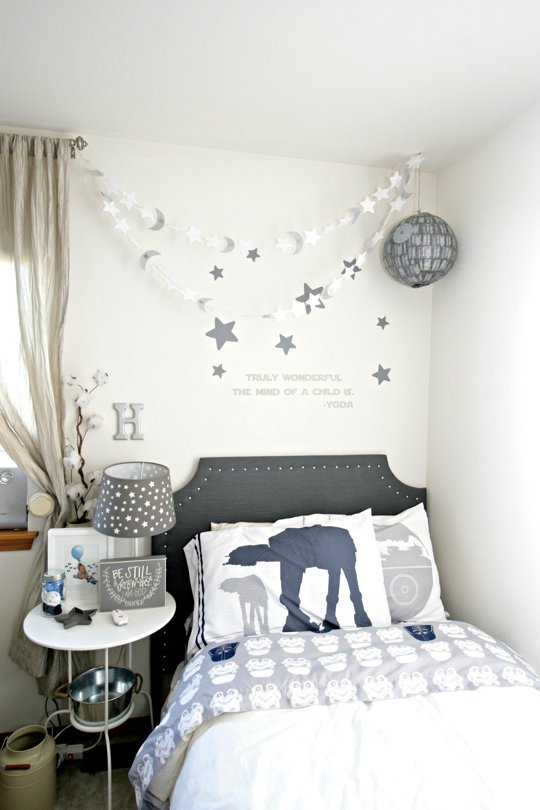 Friday faves beautiful bedrooms and organizing diys for Star wars kids room decor