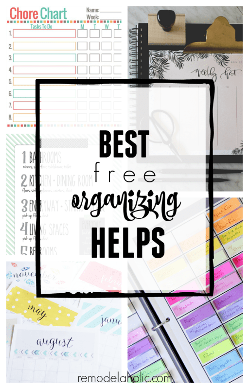 The BEST free printable organizing helps and routines for menus, calendars, chores, and more @Remodelaholic