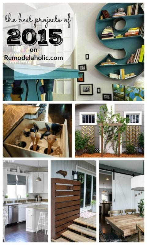 The BEST projects of 2015 from Remodelaholic.com #diy #projects #iamaremodelaholic