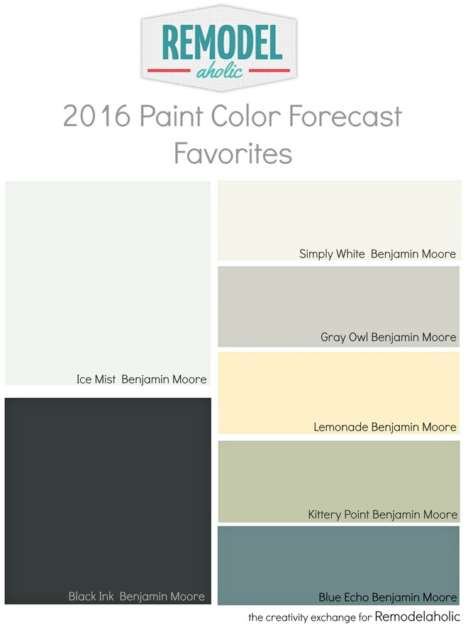 Remodelaholic trends in paint colors for 2016 for Best kitchen colors 2016