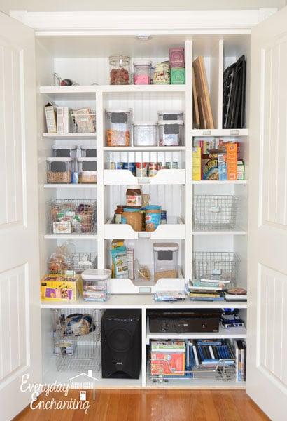 beautiful organized pantry at Everyday Enchanting, Nina Hendrick