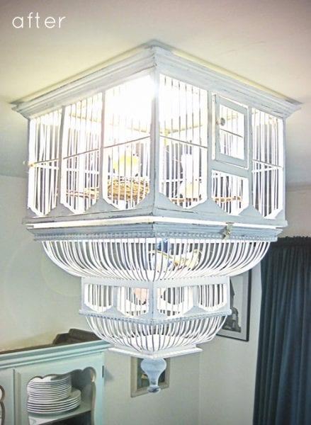 birdcage chandelier diy