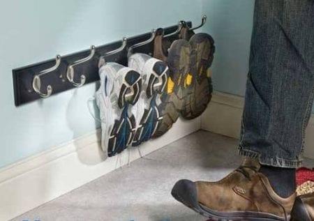 Kết quả hình ảnh cho Coat hooks to store shoes
