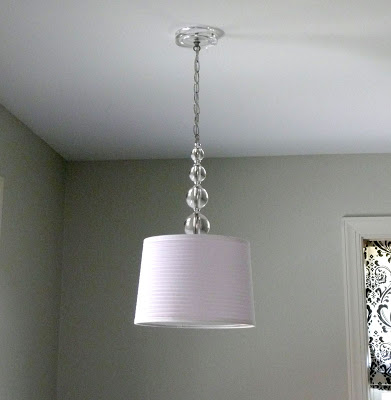 diy chandelier from glass lamp