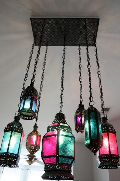 diy chandelier moroccan latern