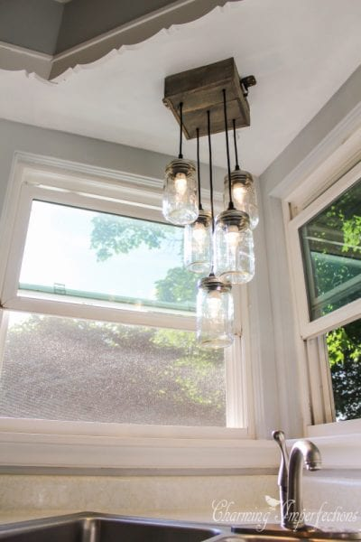 diy mason jar chandelier small