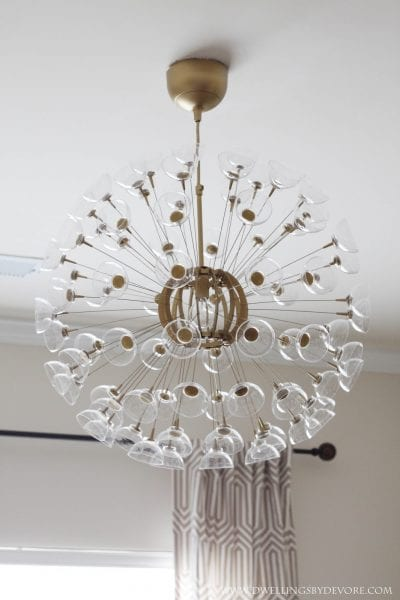diy sputnik chandelier IKEA hack