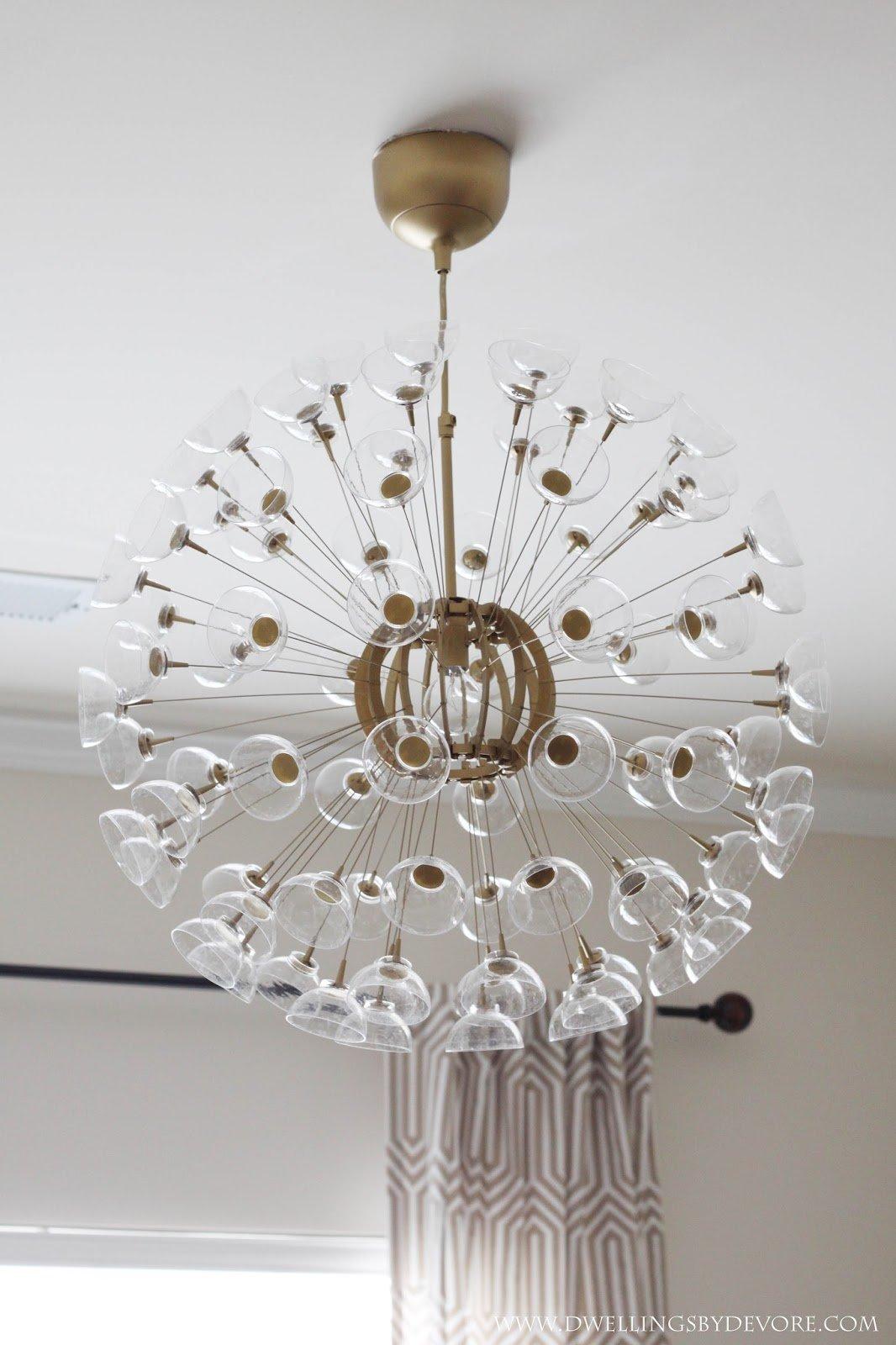 diy sputnik chandelier IKEA hack - Remodelaholic 25+ Gorgeous DIY Chandeliers