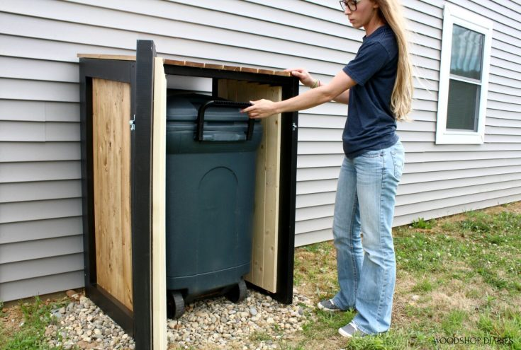 Diy Trash Can Cover, Woodshop Diaries