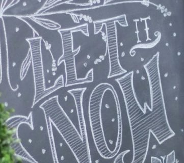 How to Make a Framed Chalkboard + Tips for Great Chalk Art