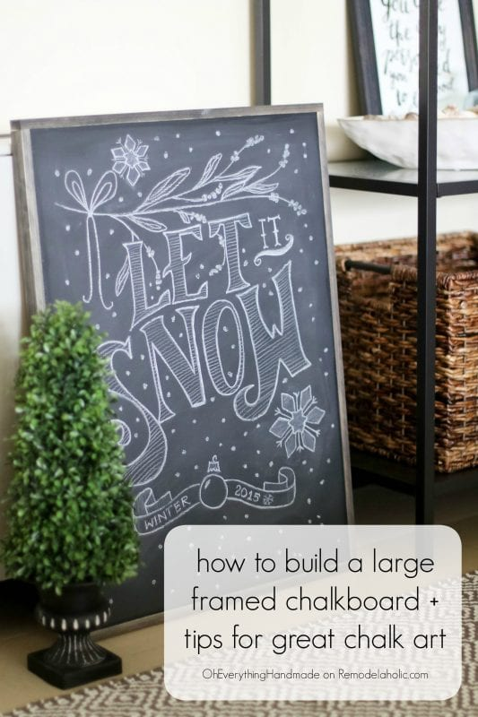 How to Make a Framed Chalkboard + Tips for Great Chalk Art ...