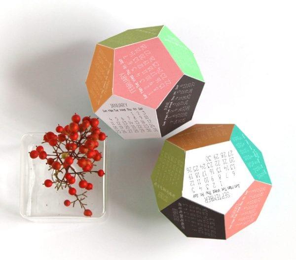 geometric 3D calendar free printable, A piece of rainbow