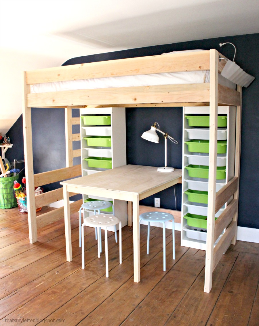 remodelaholic 15 amazing diy loft beds for kids. Black Bedroom Furniture Sets. Home Design Ideas