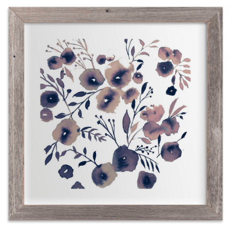 minted art snow flower