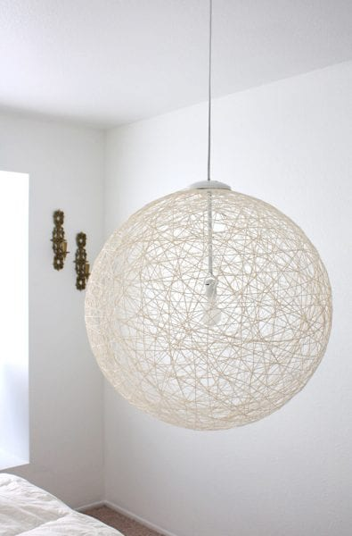 string diy pendant light chandelier
