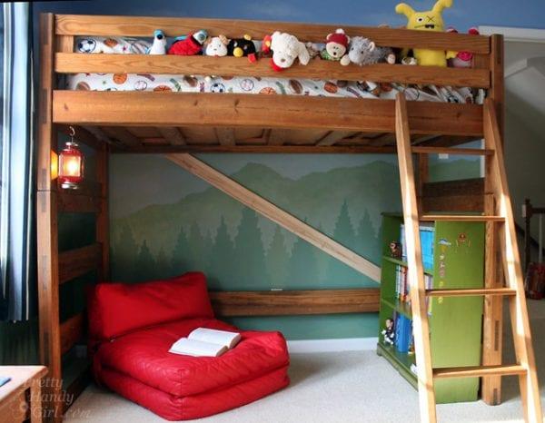 turn bunk bed into a loft bed diy kids