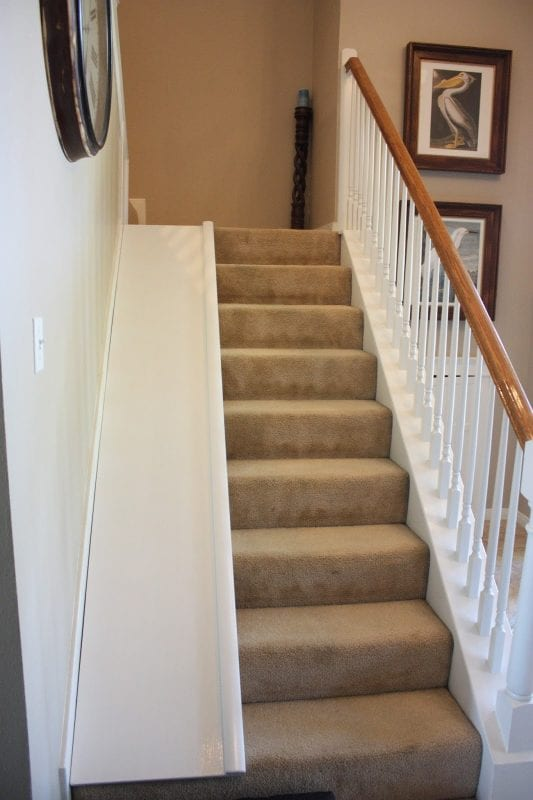 I Need This In My House For Sure! DIY Stair Slide, With A Super