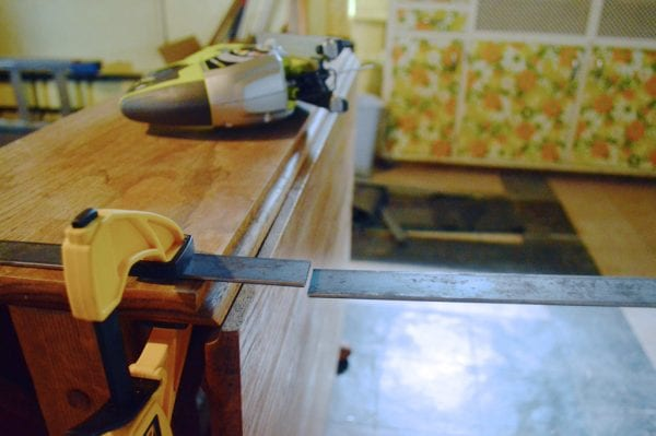 How to cut steel bars using a jigsaw, Plaster and Disaster featured on Remodelaholic.com