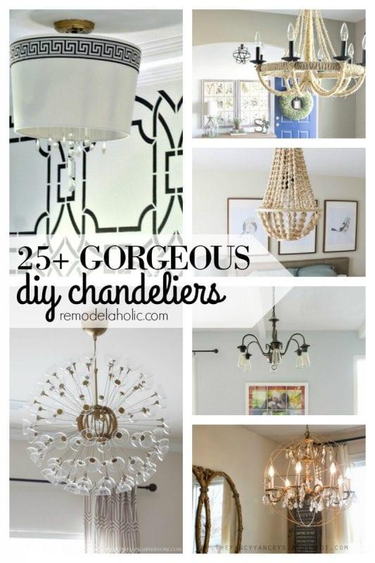 25+ Gorgeous DIY Chandeliers via remodelaholic.com