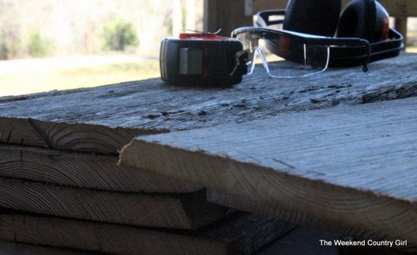 3 Salvaged wood used to create coffee bar, The Weekend Country Girl featured on @Remodelaholic