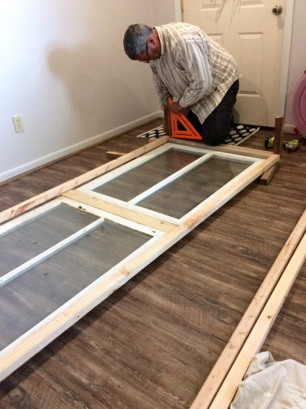 5 Upcycle old windows and reclaimed wood, The Weekend Country Girl featured on @Remodelaholic