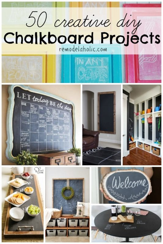 Diy Calendar Organizer : Remodelaholic creative diy chalkboard projects