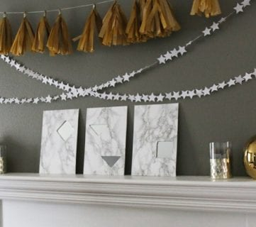 DIY Marble Mirrors