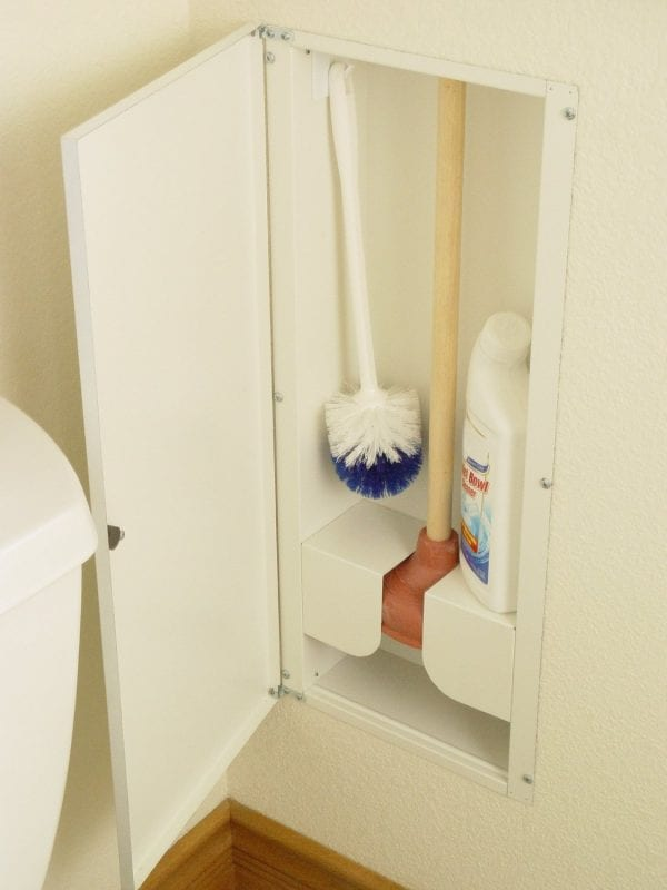 Bathroom cleaning storage
