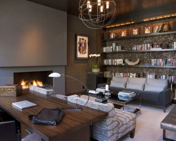 Finally, a manly man cave office