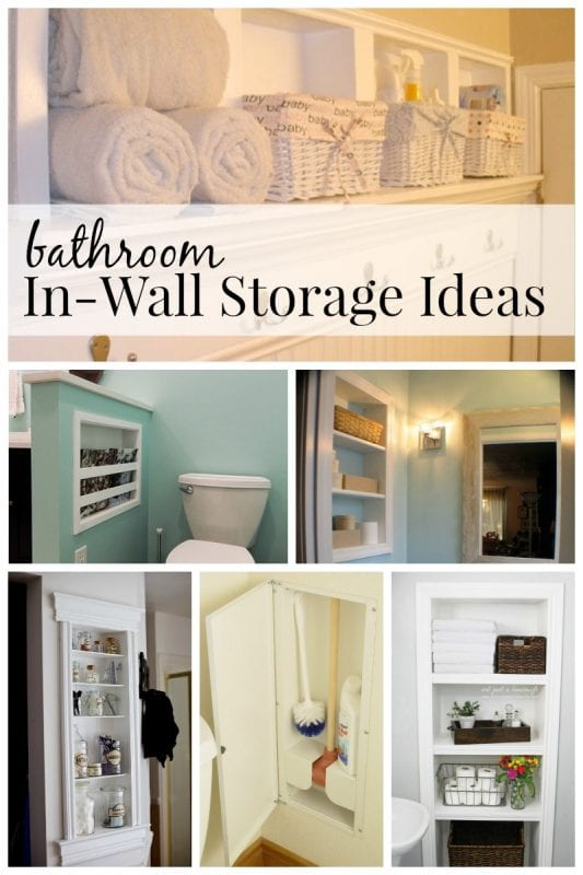 bathroom inwall storage ideas