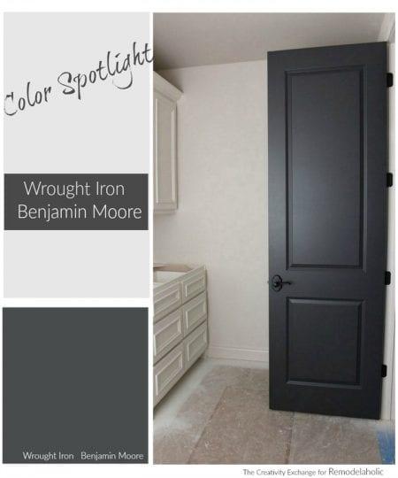 Color Spotlight Wrought Iron Benjamin Moore. Remodelaholic