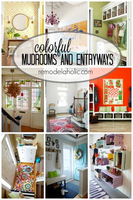 Colorful Mudrooms and Entryways   100+ Beautiful Mudrooms and Entryways at Remodelaholic.com