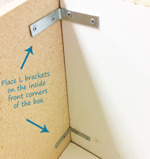How and where to put the L brackets remodelaholic.com