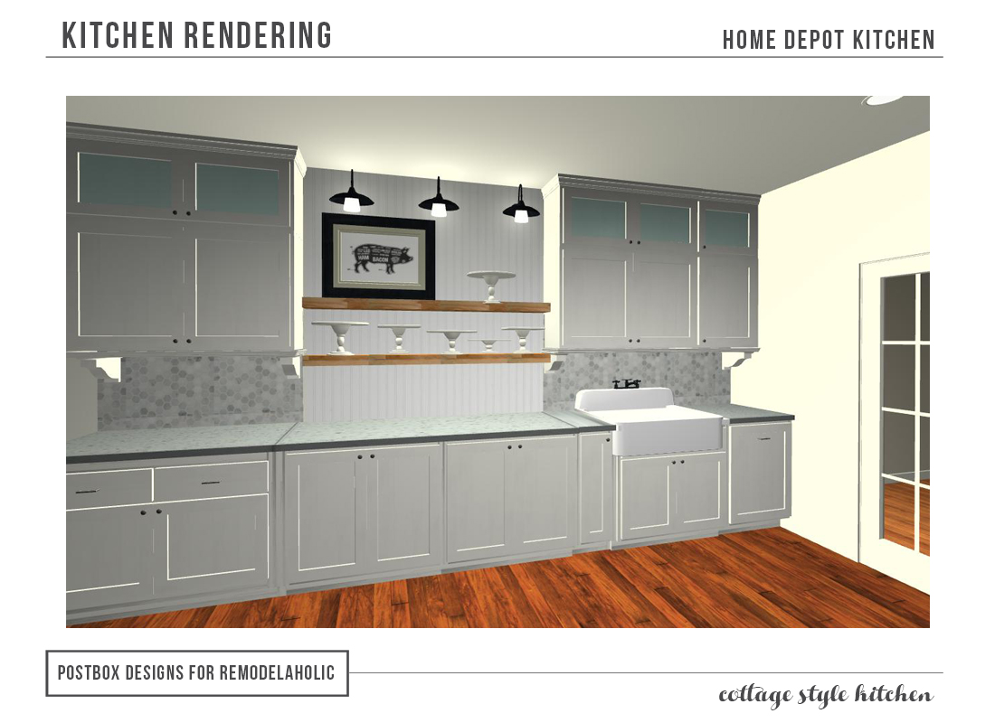 remodelaholic | cottage style kitchenentirely from home depot